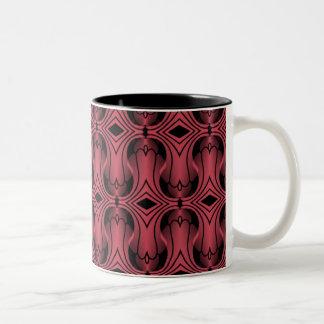 Ultramod Art Deco Mug, Magenta Two-Tone Mug