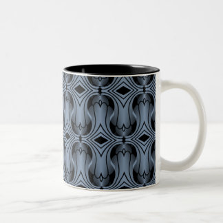 Ultramod Art Deco Mug, Periwinkle Two-Tone Mug