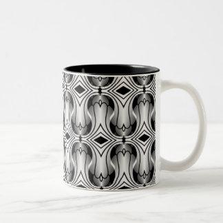Ultramod Art Deco Mug, Silver Two-Tone Mug
