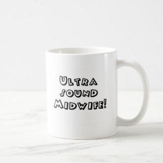ultrasound midwife basic white mug