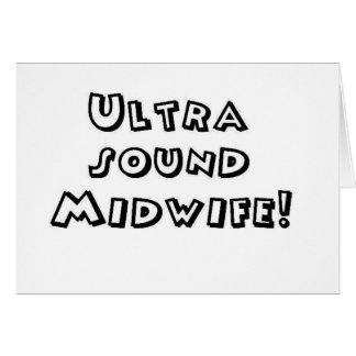ultrasound midwife greeting card