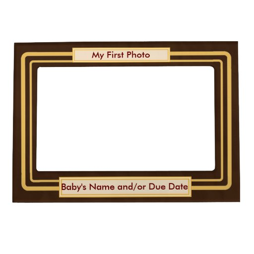 Ultrasound / Sonogram Frame - My first photo Picture Frame Magnets