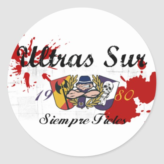 ULTRASSUR ultras sur  Real Madrid Round Sticker