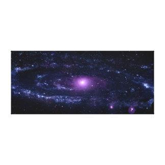 Ultraviolet Purple Andromeda Galaxy Space Canvas Prints