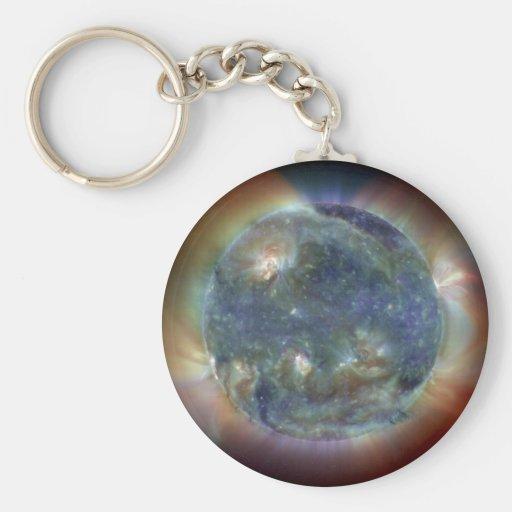 Ultraviolet Sun Key Chain