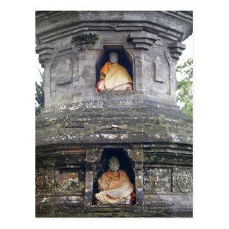 Ulun Danu Temple statues Bali Indonesia Postcard