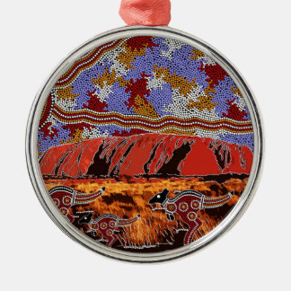 Uluru - Authentic Aboriginal Art Christmas Ornament