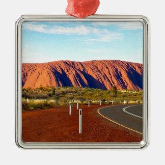 Uluru / Ayers Rock - Australia Silver-Colored Square Decoration