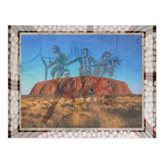 Uluru Dancers NT Australia Postcard