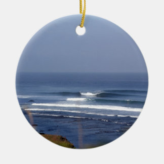 Uluwatu Bali famous surfing wave Christmas Ornament