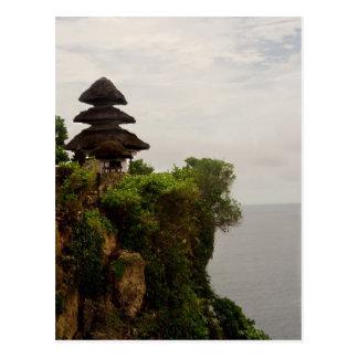 Uluwatu temple in Bali Postcard