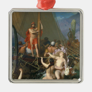 Ulysses and the Sirens 2 Silver-Colored Square Decoration