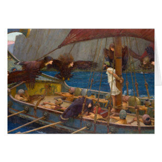 Ulysses and the Sirens by J.W. Waterhouse Card