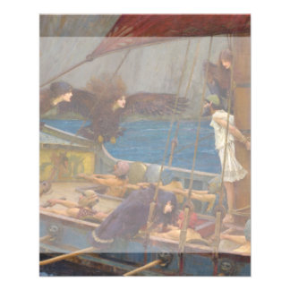 Ulysses and the Sirens by John William Waterhouse 11.5 Cm X 14 Cm Flyer