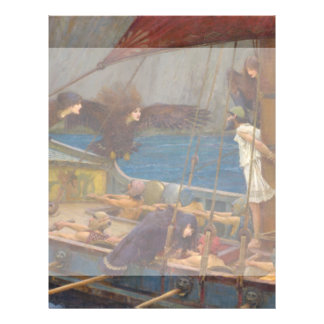 Ulysses and the Sirens by John William Waterhouse 21.5 Cm X 28 Cm Flyer