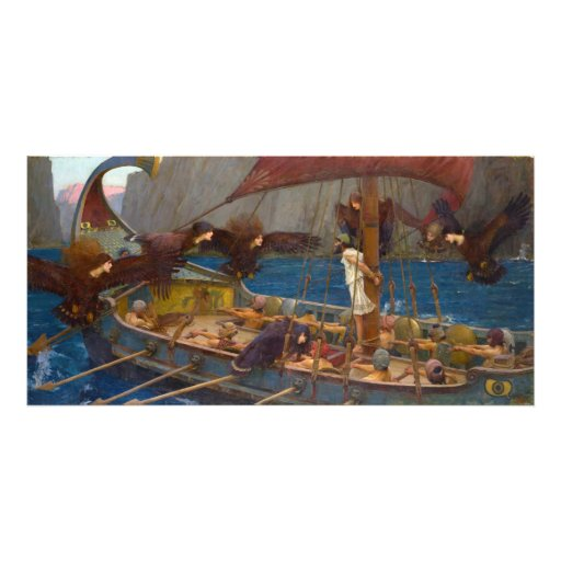 Ulysses and the Sirens by John William Waterhouse Art Photo