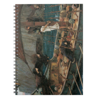 Ulysses and the Sirens by JW Waterhouse Notebook