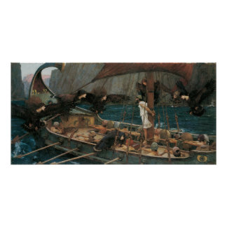 Ulysses and the Sirens by JW Waterhouse Posters