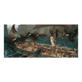 Ulysses and the Sirens by JW Waterhouse Rack Cards