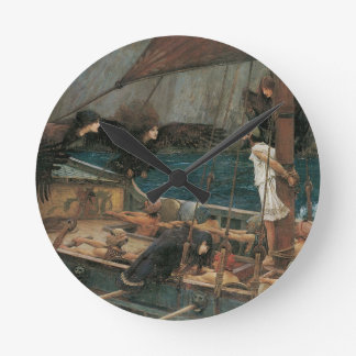 Ulysses and the Sirens by JW Waterhouse Round Clock
