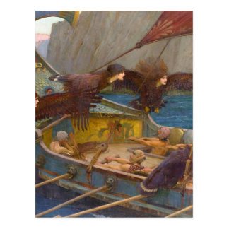 Ulysses and the Sirens Postcard