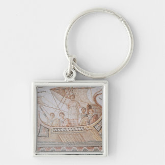 Ulysses and the Sirens Silver-Colored Square Key Ring