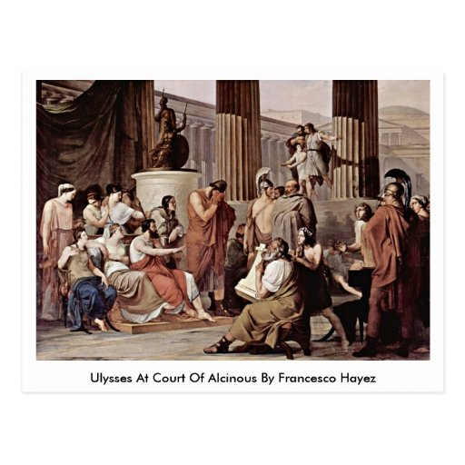 Ulysses At Court Of Alcinous By Francesco Hayez Post Cards