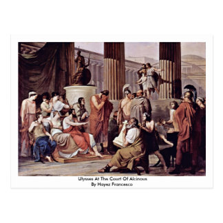 Ulysses At The Court Of Alcinous Postcard