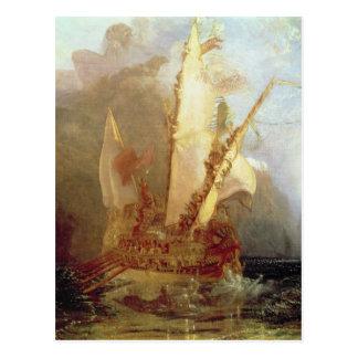Ulysses Deriding Polyphemus, detail of ship Postcard