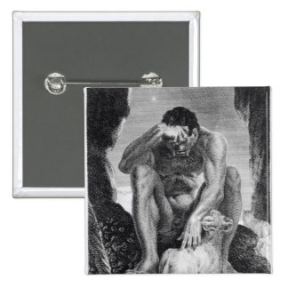 Ulysses Escaping from Polyphemus the Cyclops 15 Cm Square Badge