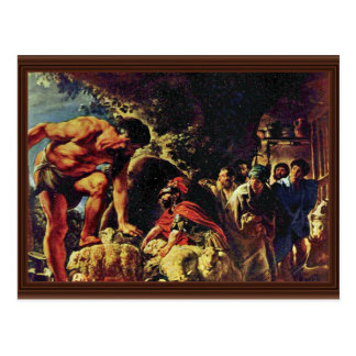 Ulysses In The Cave Of Polyphemus By Jordaens Jaco Post Card