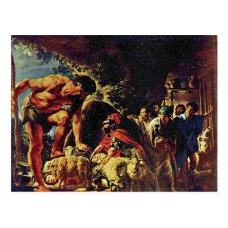 Ulysses In The Cave Of Polyphemus By Jordaens Jaco Postcard