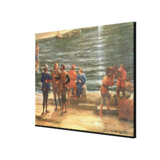 Ulysses Returning Chryseis to her Father Stretched Canvas Prints