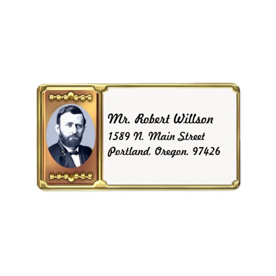 Ulysses S. Grant Address Label