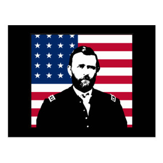 Ulysses S. Grant and the American Flag Postcard