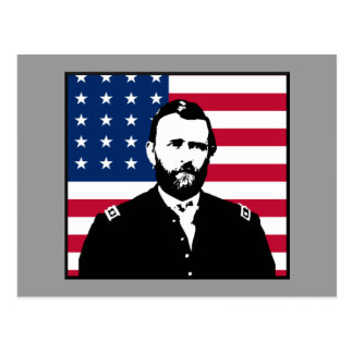 Ulysses S Grant and the American Flag Post Cards