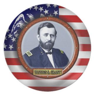 Ulysses S. Grant Civil War Party Plates
