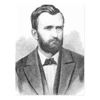 Ulysses S. Grant Illustrative Portrait Postcard