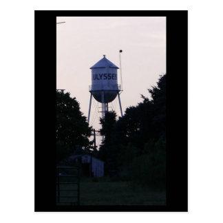 Ulysses water tower postcard