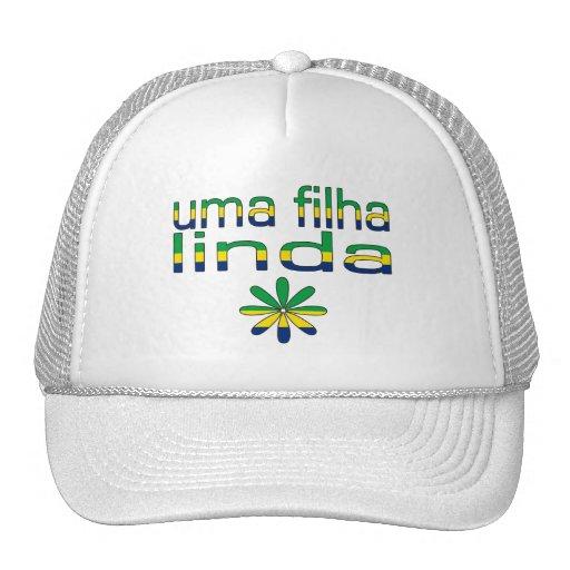 Uma Filha Linda Brazil Flag Colors Hats