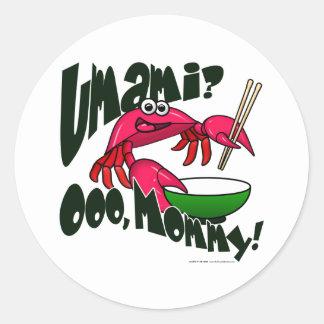 Umami Crab Round Sticker