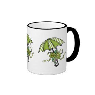 Umberlla with Roses 15 Ringer Mug