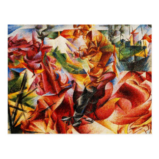 Umberto Boccioni - Elastic Detail Post Card