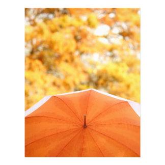 Umbrella and Autumn Colors 21.5 Cm X 28 Cm Flyer