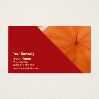 Umbrella and Autumn Colors Business Card