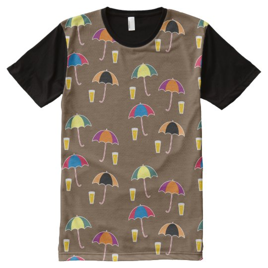 UMBRELLA AND DRINK All-Over PRINT T-Shirt