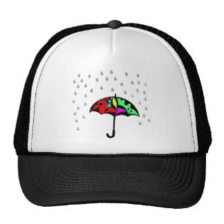 Umbrella and Raindrops Cap