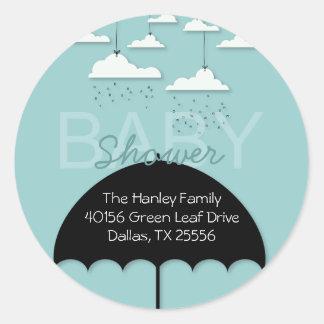Umbrella Baby Shower Address Label