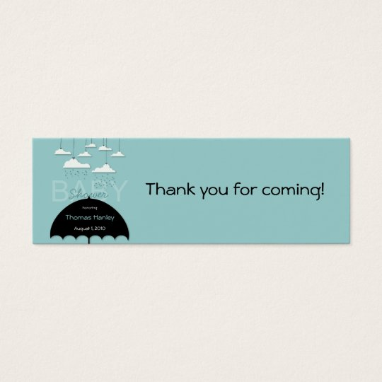 Umbrella Baby Shower Favour Tag