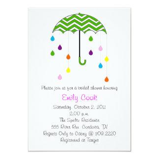 Umbrella Bridal Shower 13 Cm X 18 Cm Invitation Card